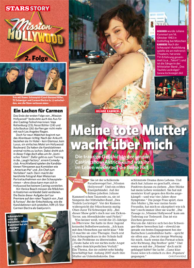 "Juliane Kammerl im ""in"" Magazin"